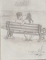 Korean couple on bench by JJShaver