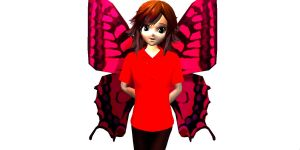 Butterfly girl - A request from NoxZachArcana by YourFaceLooksFunny