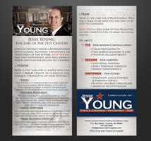 Jesse Young for Congress 4x9 Flyer by fireproofgfx