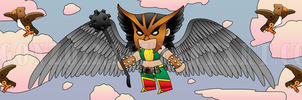 Hawkgirl Takes Flight by CCgonzo12