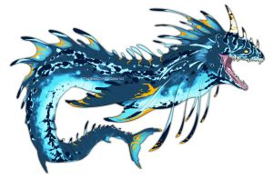 Akalae'dun - The Great Water Serpent by SylxeriaGuardian