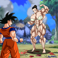 Commission - Chichi and Goku by MATL