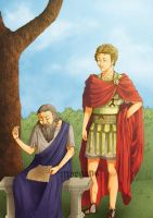 Plato and Alexandre the Great by morganadulac