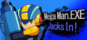 Mega Man.EXE for SSB4 by megabenlinksonicman