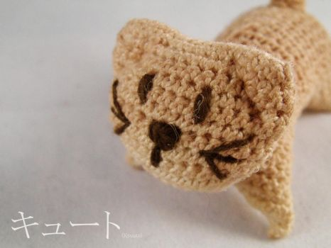 Miauw crochet cat by pink-butterfly-crack