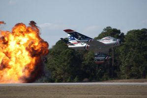 F-86 Sabre with Pyro by Valder137