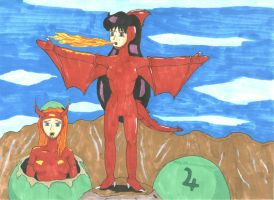 Latex Sailor Dragons by Zoe-the-Pink-Ranger