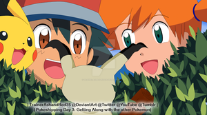 Pokeshipping Week - Day3 : Getting Along by TrainerAshandRed35