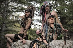 Tribal Voodoo Trio by drewhoshkiw