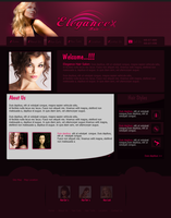Hair Salon Web Layout by aors