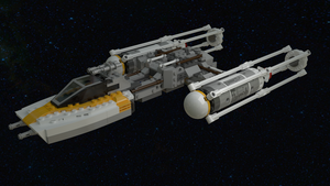 Finished Y-wing Render by darrenagar