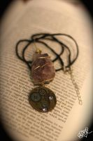 Steampunk Amethyst Necklace by SunsetsAre4Becca