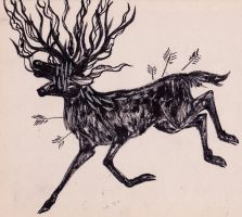 Ink Stag Possessed by CorruptedFox