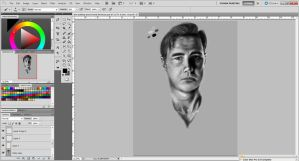 David Morrisey - The Walking dead [in progress] by tenshikaino