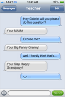 Iphone Texting with your Teacher by dinoking7711