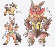 Tepig Evolution Series X by CelestialTentails