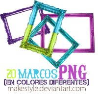 20 marcos en PNG by makestyle