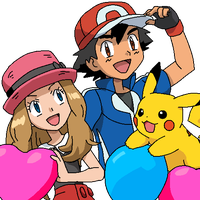 Pokemon AmourShipping My Drawing by Aquamimi123
