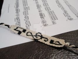 Music Notes Friendship Band by reflector-of-light