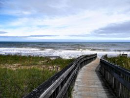 North Carolina Boardwalk to Beach by Maggiesdaisy