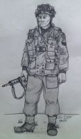 British/Canadian Paratrooper WWII by warman707
