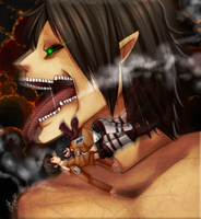 -Attack on titan-Shingeki no kyojin- SPEED PAINT by KuroiiFox