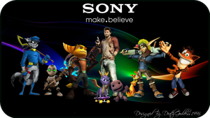 Sony's Official Mascots by DeathGoddess1995