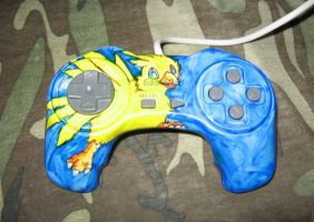 Chocobo Playstation Controller by Zevnen