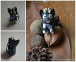 Kuro ao no exorcist for sale chibi charm OPEN by wolfyLRiina