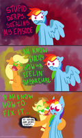 RD and AJ against Derpy by alittleofsomething