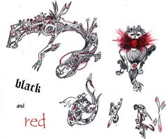 black and red by AlfaLunar