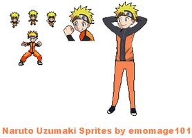 Naruto Uzumaki Sprites Project by emomage101