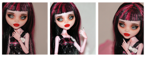Monster High Draculaura repaint #5 by RogueLively