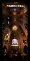 Inside Notre-Dame Panorama by Blofeld60