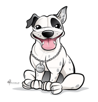 Staffy Dog Caricature by timmcfarlin