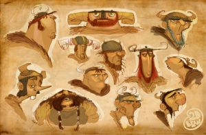 viking heads by Brett2DBean