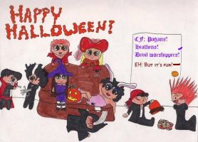 Happy Halloween DA by GoblinQueen023