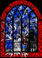 Coldhands stained glass window by guad
