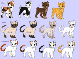 Pure cat adopts 2 by DragonGirlAdopts