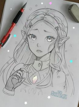 Zelda - Breath of Wild by larienne