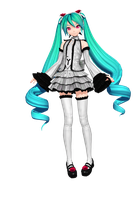 Dreamy Theater Extend: White Infinity Miku by Tuni-kun