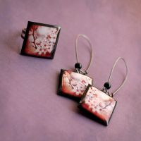 Blossom jewelry set by BeautySpotCrafts