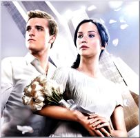 Katniss and Peeta by GadeChii