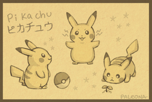 pikachu sketch page by Paleona