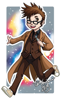 Chibi Tenth Doctor Badge by TwinEnigma