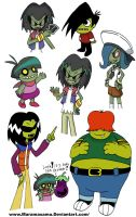 Various Ganggreen Gang members by Maramasama
