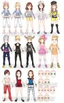 Idol Adventure Outfits by HatterMadness