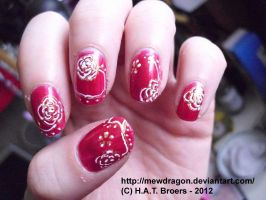 Red Roses Nail art by Kythana