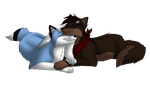Sky And Drew Commission for BlueSkyWolf by fluffylovey