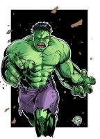 Hulk Smash Sketch Card Colours by Carl-Riley-Art